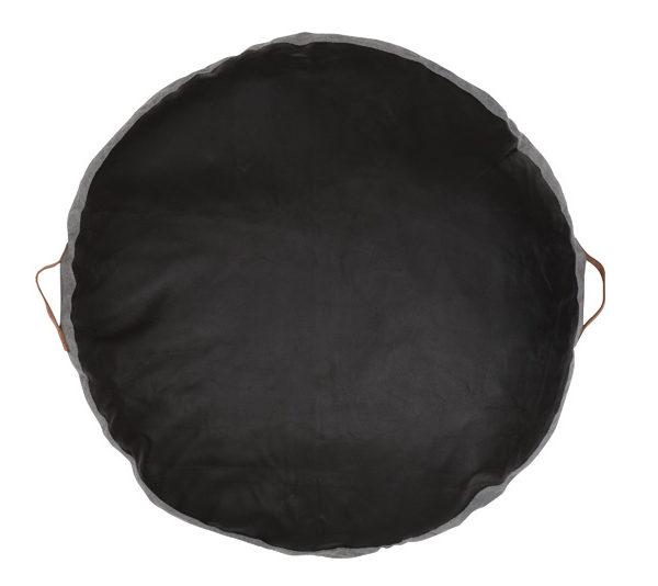 Leather Floor Pillows Cushions : Leather Circular Floor Cushion - Black - AMIGOS DE HOY