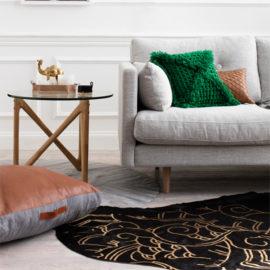 tan-leather-sqaure-floor-pad